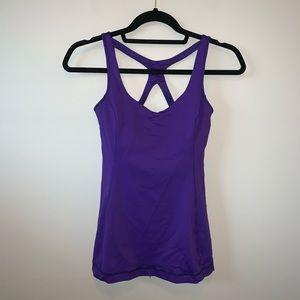 2/$50 Lululemon purple cross back tank top